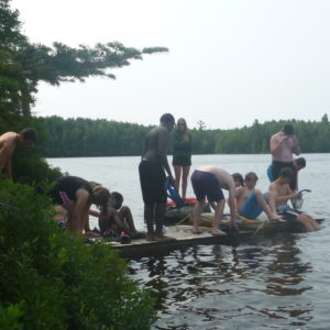 Swimming at Haliburton Scout Reserve 2014